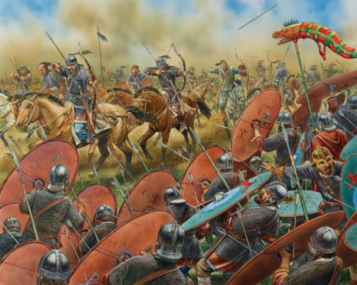 #Hoy en el año 451 se produjo la batalla de los Campos Cataláunicos en la que cayó derrotado Atila el legendario rey de los Hunos.