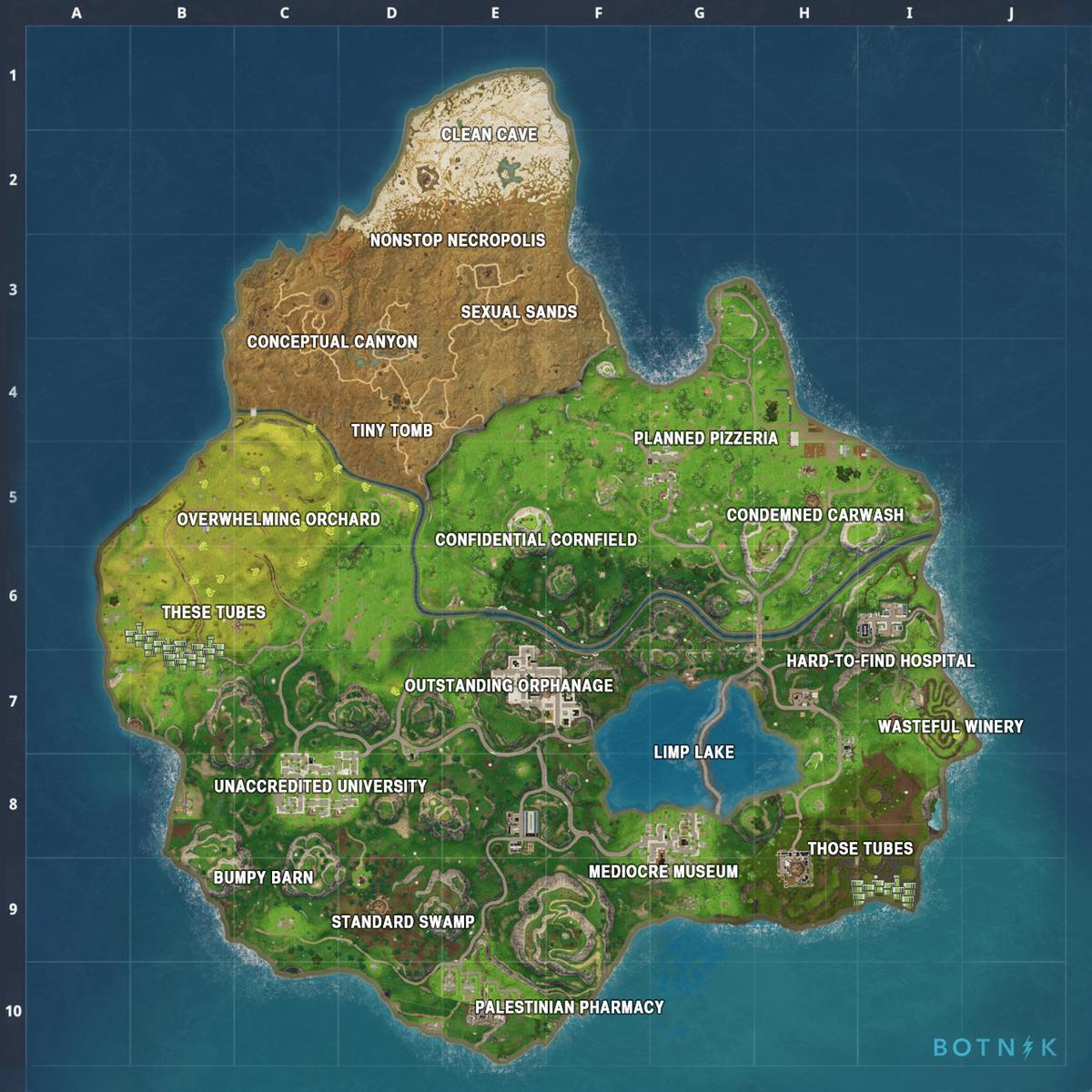 Botnik Studios On Twitter New Fortnite Map