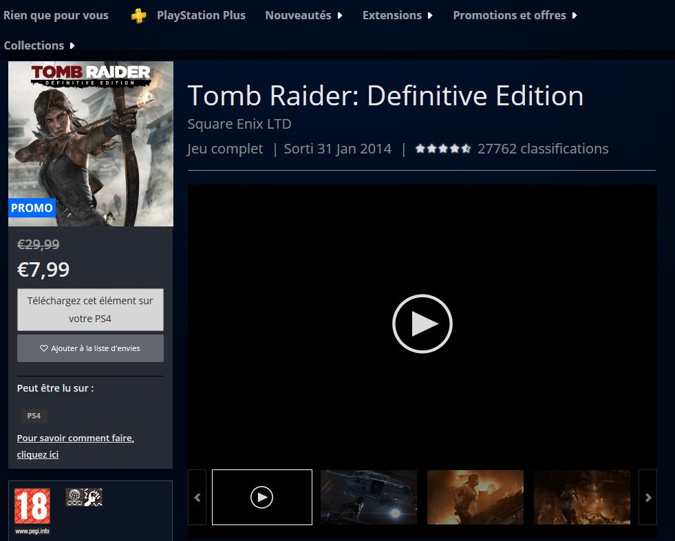 More #TombRaider discounts for your PS4 have appeared on the EU PlayStation Store!  <br>http://pic.twitter.com/AfSDoJ1wOV