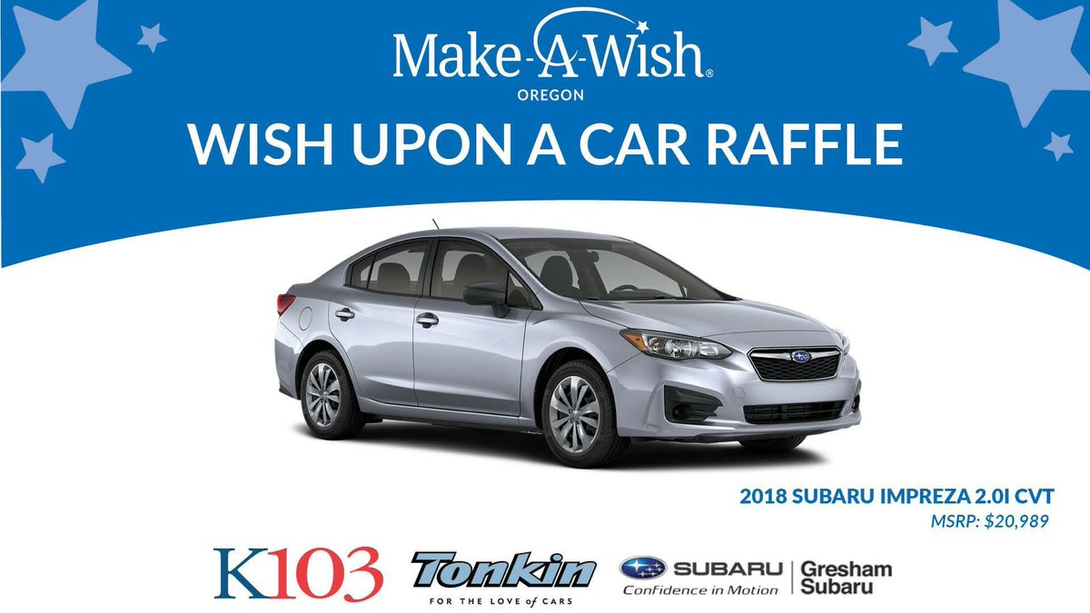 Make A Wish Oregon On Twitter You Can Win A New Car While Helping