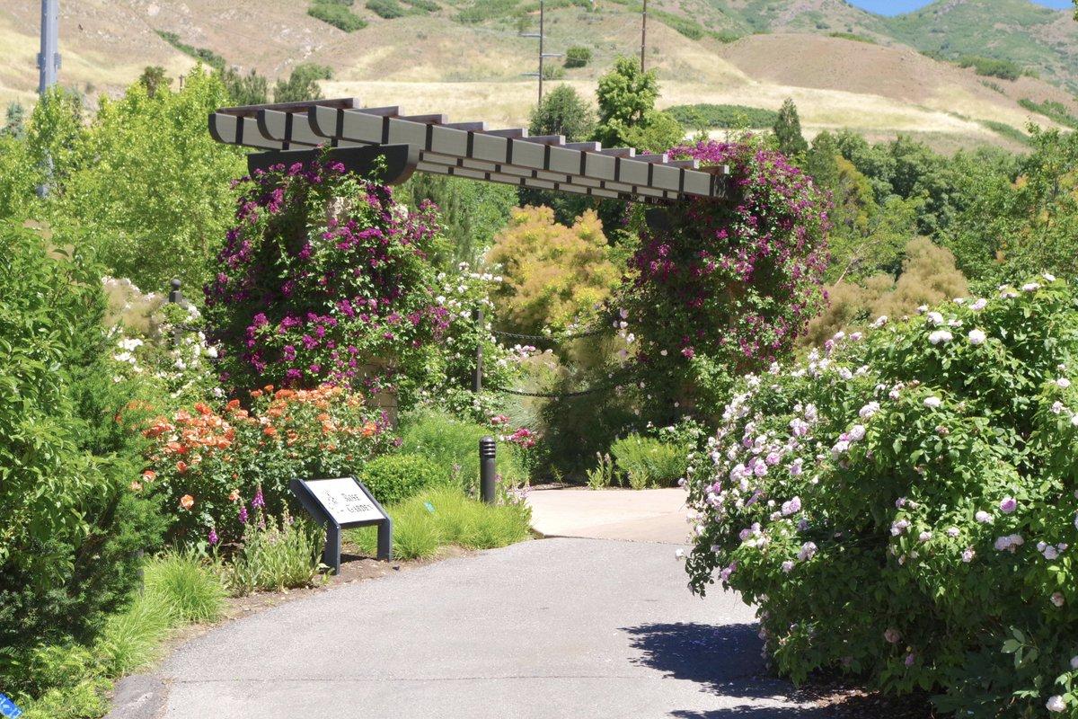 Red Butte Garden On Twitter Entrance To The Rose Garden