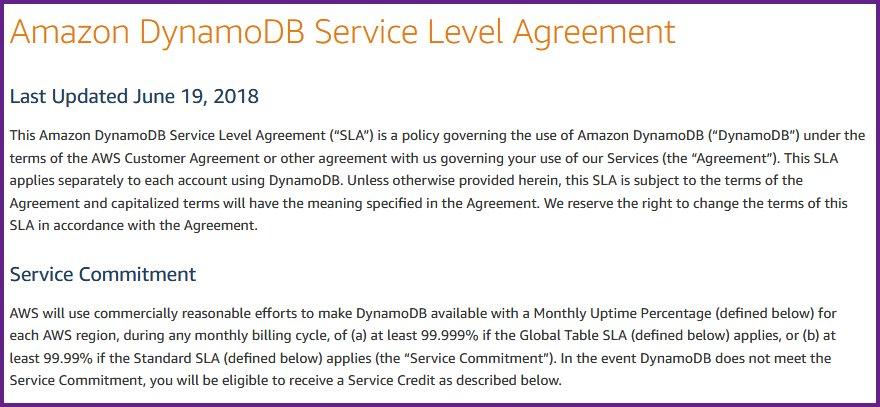 Jeff Barr On Twitter New Amazon Dynamodb Service Level