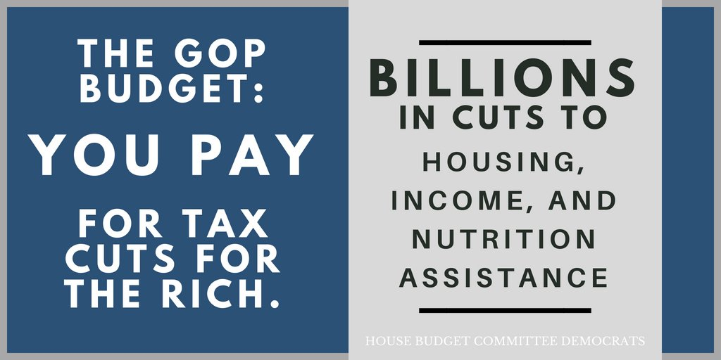 Alert: @HouseGOP just rolled out a #BrighterForBillionaires budget that pays for the #GOPTaxScam by putting health care, retirement security, education, and a basic standard of living on the chopping block. #GOPBudget