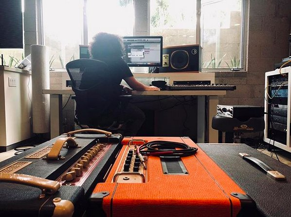Repost @tomdelonge . . . Today, we have a bit of @angelsandairwaves in the studio. instagram.com/p/BkNuIMmgsgQ/