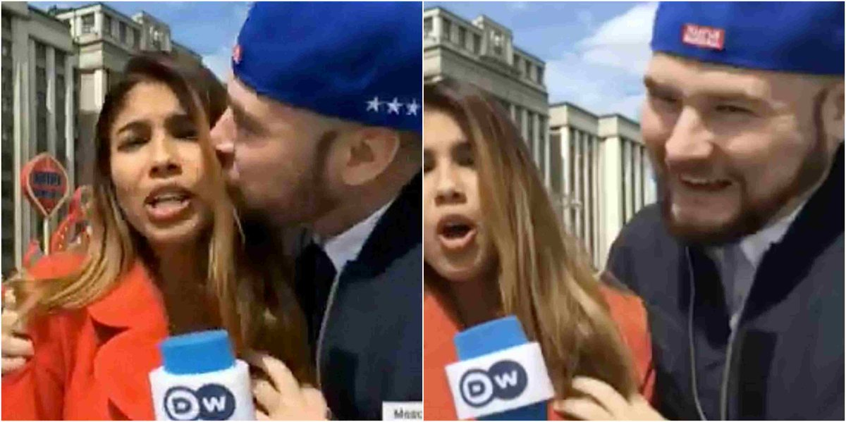 @iamfatdon: Colombian reporter Julieth Gonzalez Theran has been sexually assaulted on Live TV while reporting on the World Cup in Russia. @Gidi_Traffic