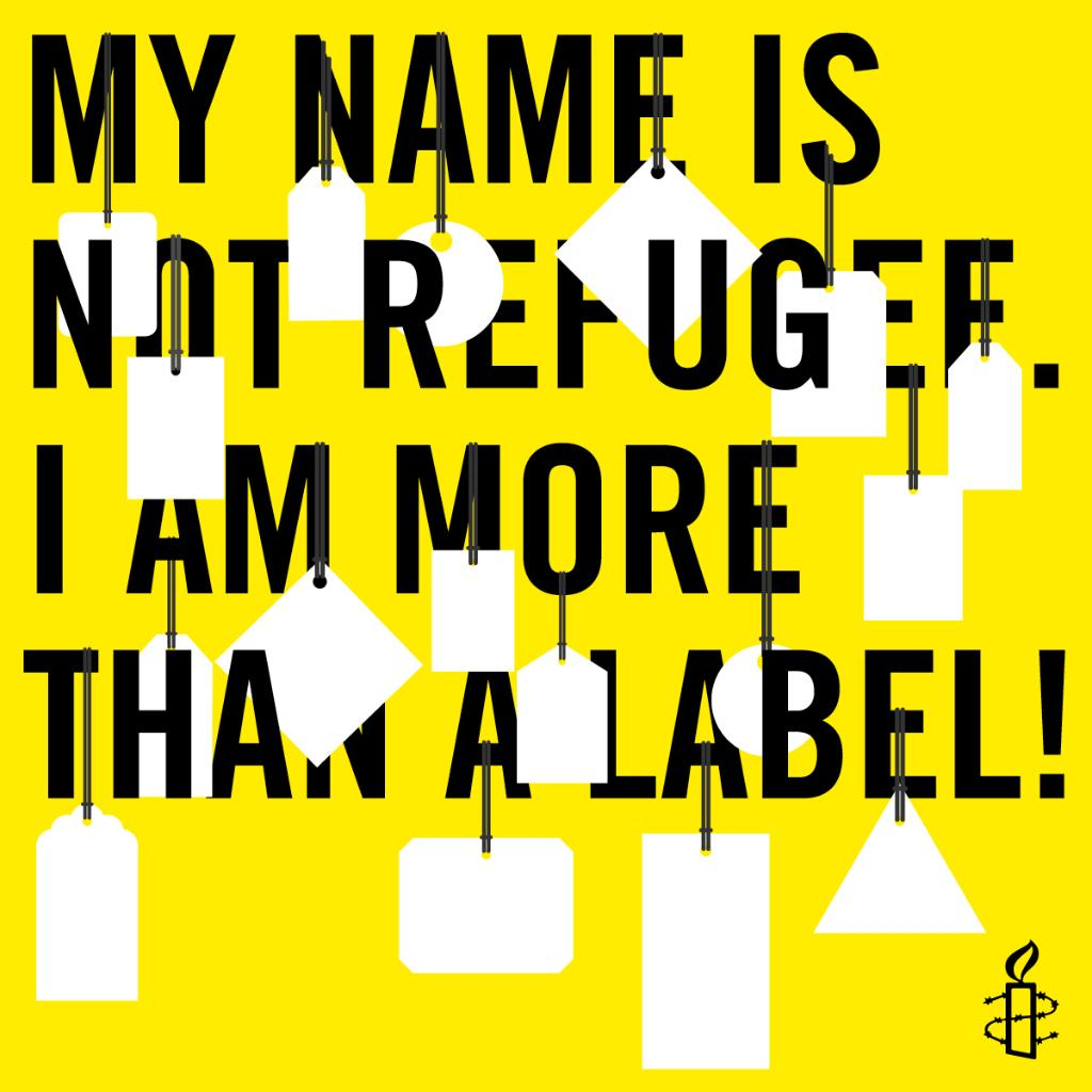 On #WorldRefugeeDay, let's defend the things that unite us as human beings—like a name & a personal story—and refuse to let fear and prejudice win. See the person, not the label, because !#MyNameIsNotRefugee