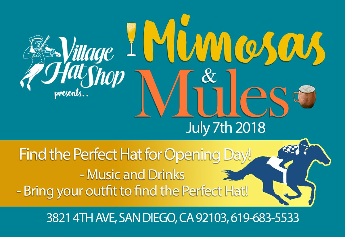 e96a6b89264 Enjoy Music and Drinks while finding the Perfect Hat for Opening Day at our  San Diego-Hillcrest Store!  hats  hat  villagehatshop  openingday2018 ...