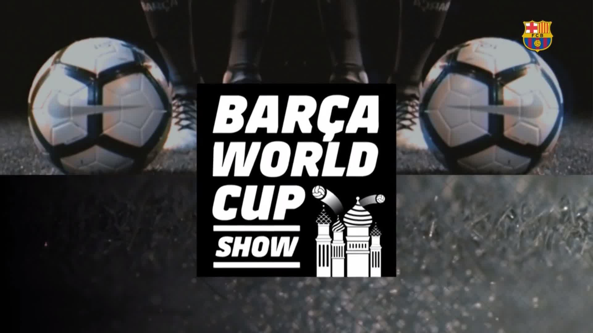 For World Cup stress relief �� try the #BarçaWorldCup show! �� Full video: https://t.co/hyEZcvuTee https://t.co/XOjiZIEXvF