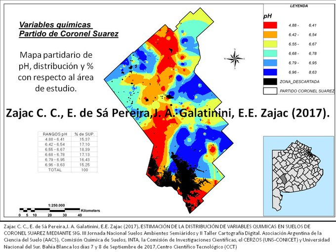 Mapas de pH sobre Coronel Suarez SO Bonaerense @CristianCZajac Foto