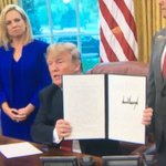 Image for the Tweet beginning: President Trump signs executive order