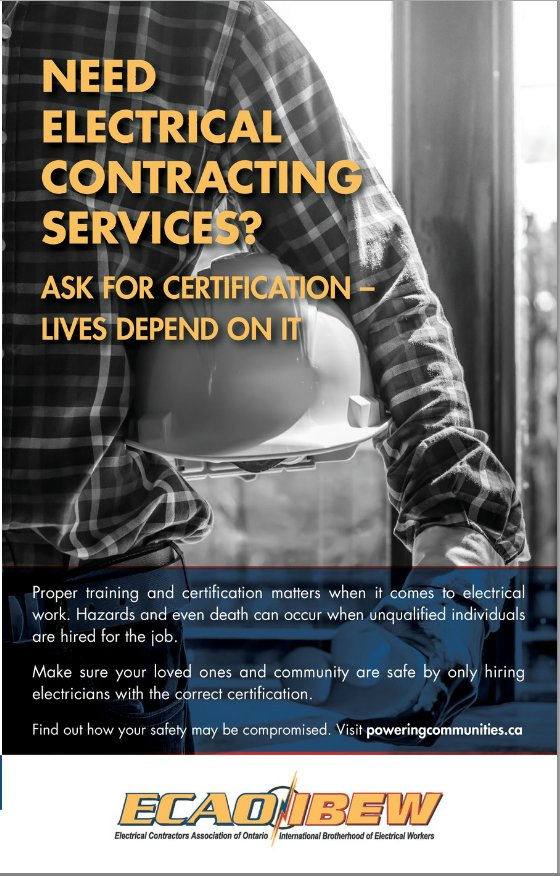 Eca Ontario On Twitter Proper Training Certification Matters