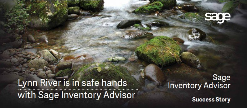 """Read our latest #customersuccess story here.  http:// bit.ly/2yh90GC  &nbsp;   """"#Sage #InventoryAdvisor has everything we need and we can't imagine life without it!""""  BRENDAN COSGROVE, Operations &amp; Purchasing Manager/ Lynn River. #wemakeinventorywork #Sage300 #SaaS #Cloud #happycustomers<br>http://pic.twitter.com/CLNQIgYOcr"""