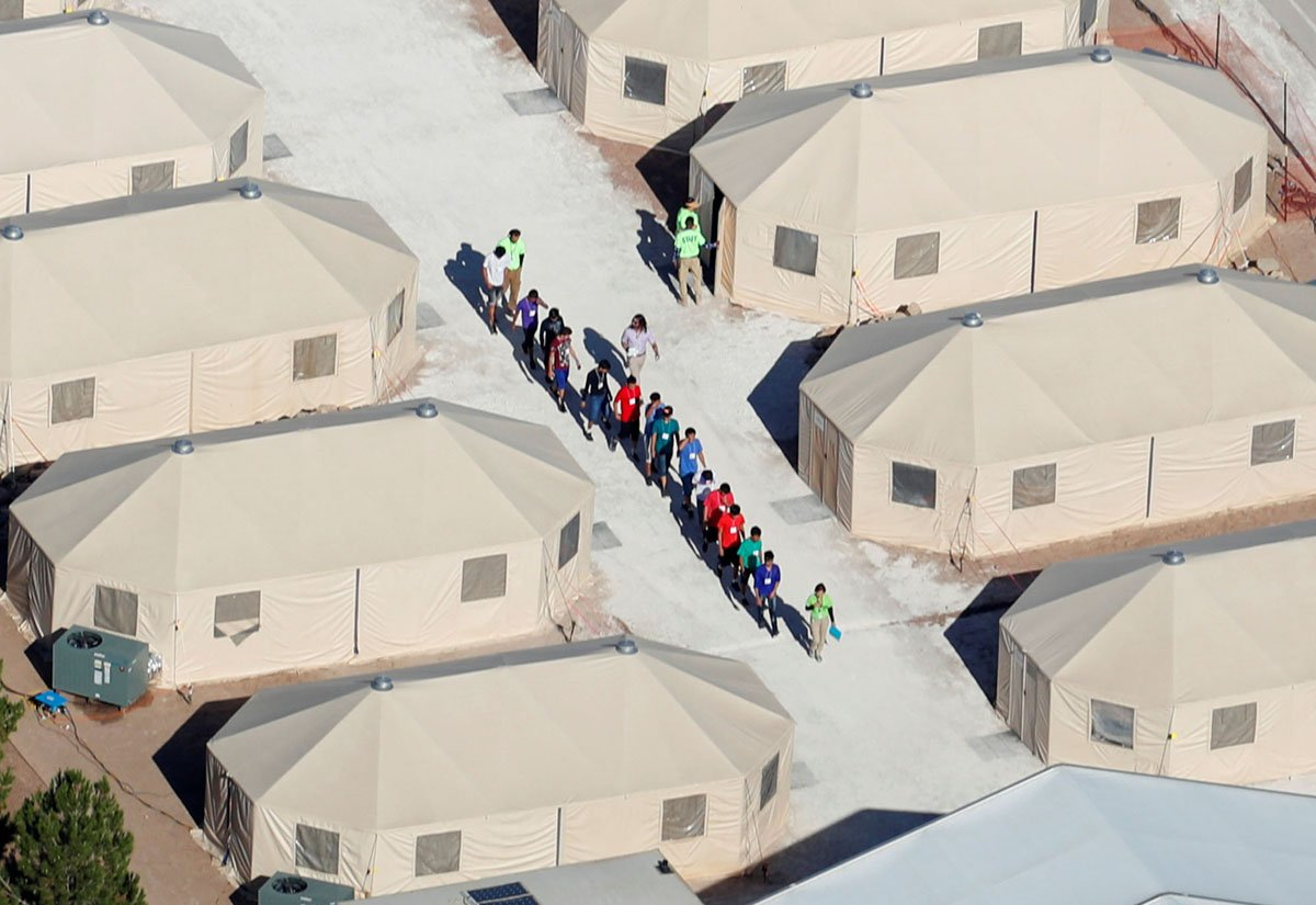 Photos: A tent city for detained children in Texas on.theatln.tc/3cUBwW1