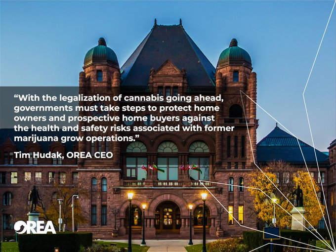 BREAKING - #OREA Statement on Federal Government's Refusal to Allow Provinces the Ability to Ban Home Growth of Cannabis Photo