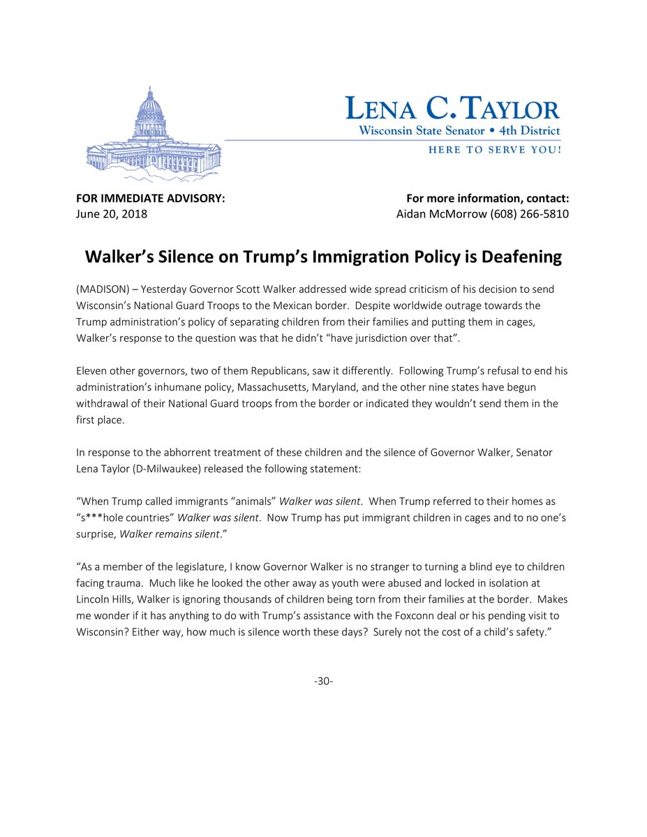 So Have You Actually Read Walkers >> Sen Lena C Taylor On Twitter When Trump Called Immigrants