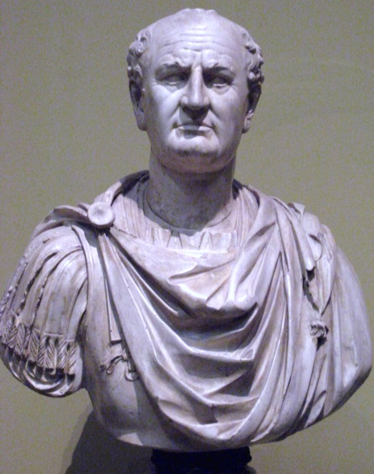 Died today 79AD Vespasian, Roman Emperor, dies at 69. He was the fourth, and last, in the Year of the Four Emperors. He was the commander of a legion in Germany and Britain and subjugated Judaea during the Jewish rebellion of 66AD.