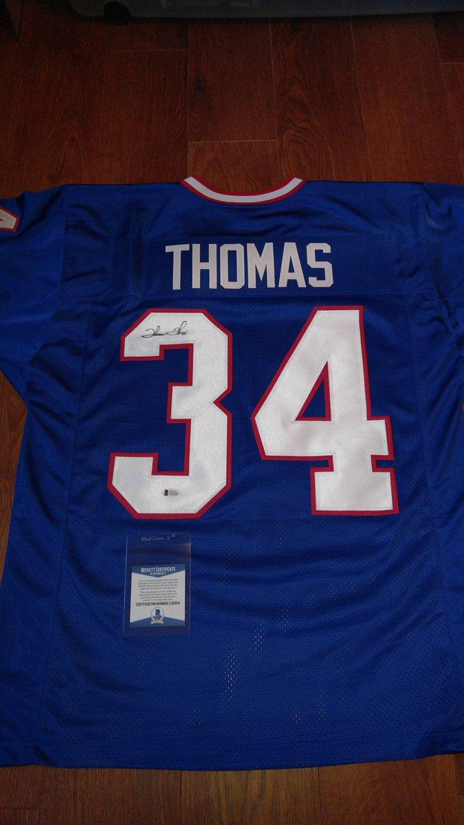 Thurman Thomas signed jersey..Beckett COA.$115 shipped. <br>http://pic.twitter.com/E5G0c6EyAt