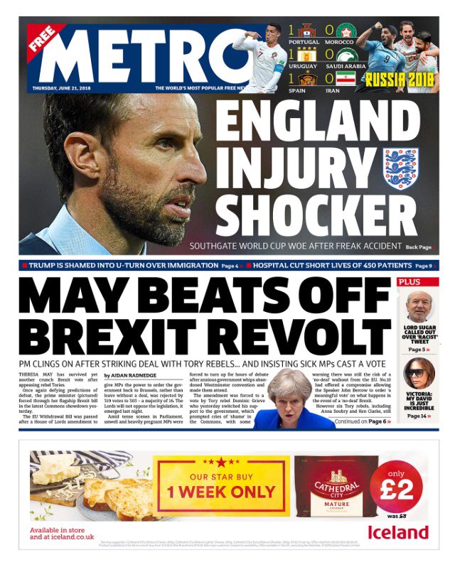 Thursday's Metro: May beats beats off Brexit revolt #tomorrowspaperstoday #bbcpapers via @MsHelicat  https://t.co/Np4hKpiv9C