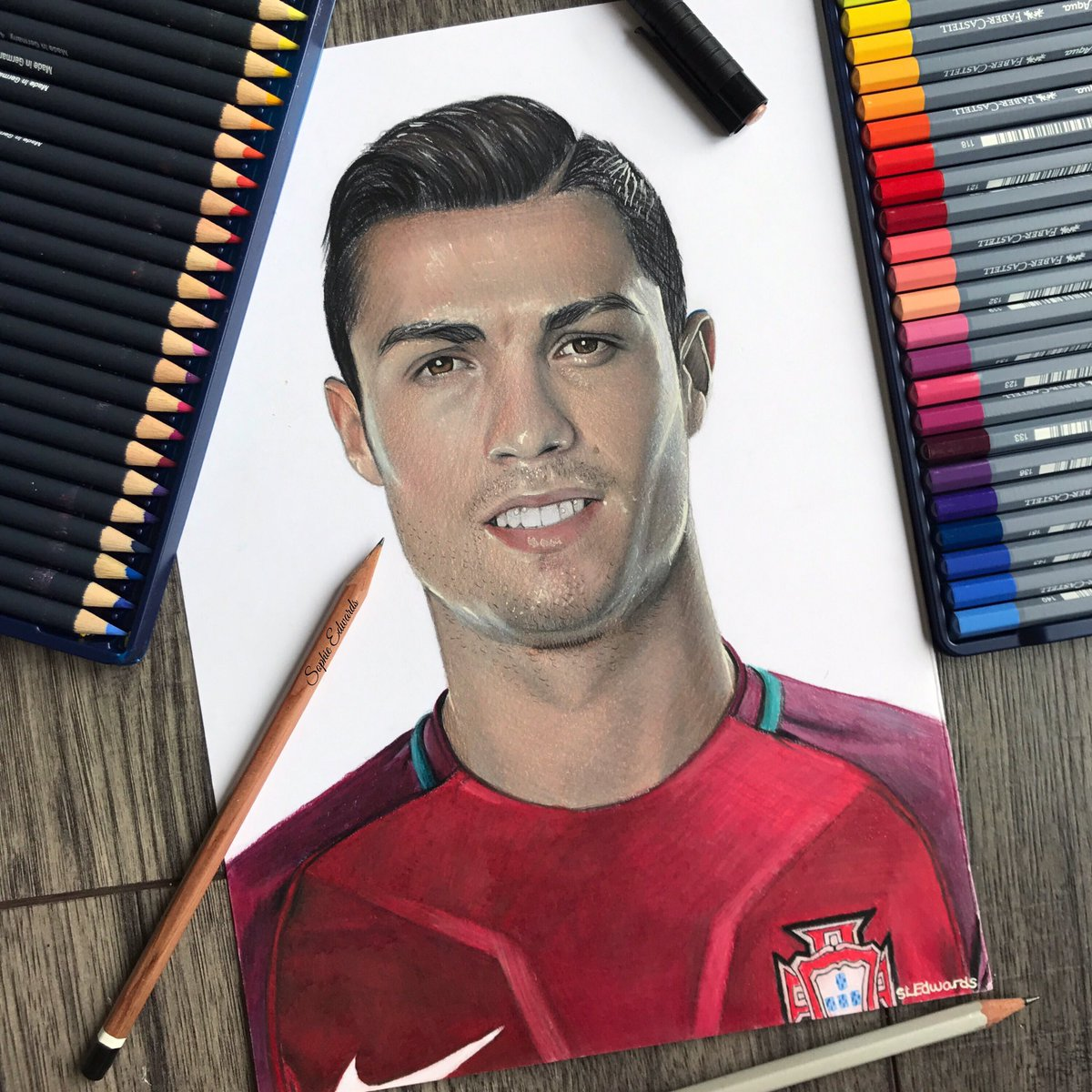 Sophie edwards on twitter colour pencil drawing of cristiano ⚽ 🏆 cristiano ronaldo worldcup2018 worldcup cristianoronaldo