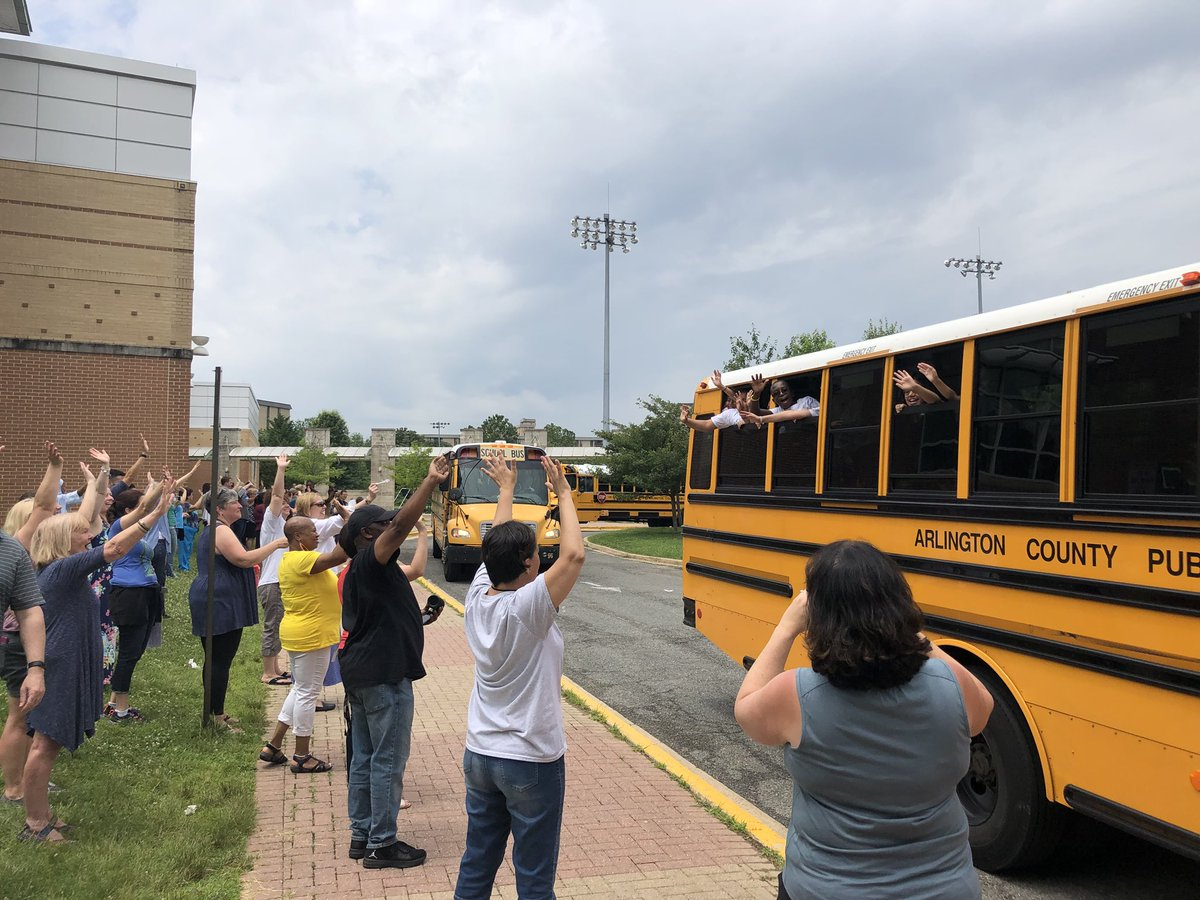 Staff cheering as we send our wonderful students off on the bus. Have a wonderful summer everyone! <a target='_blank' href='https://t.co/for0BIzRHk'>https://t.co/for0BIzRHk</a>