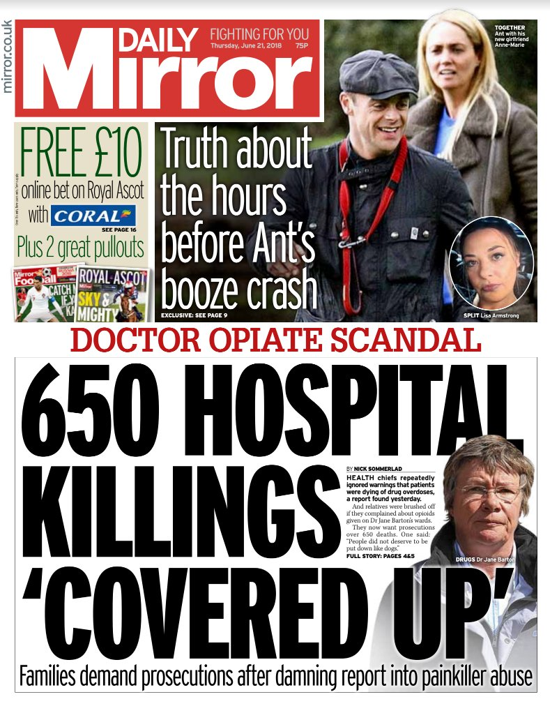 Tomorrow's front page: 650 hospital killings 'covered up' #tomorrowspaperstoday  https://t.co/xJ4URoIk9P