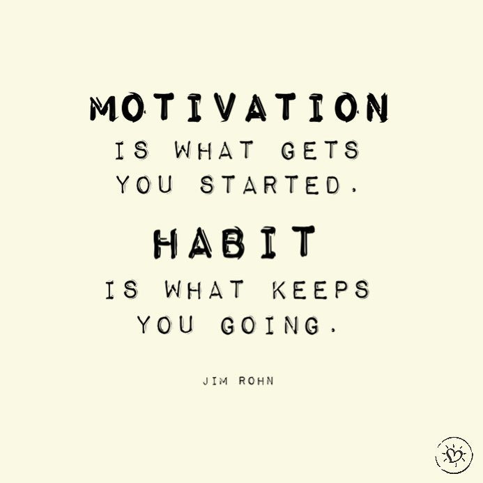 &quot;Motivation is what gets you started. Habit is what keeps you going.&quot; @OfficialJimRohn   #projecthappiness #motivation #habits<br>http://pic.twitter.com/B51kl13LjK