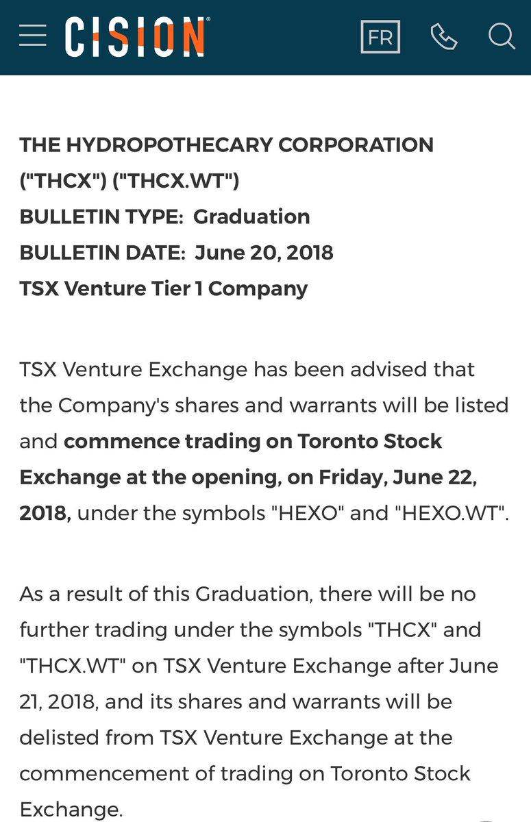 Scotttrades On Twitter Boom Hydropothecary Will Be Moving To