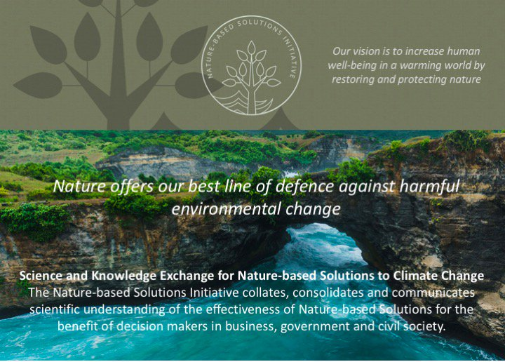 Session on mainstreaming #naturebasedsolutions (NBS) starting at 9:15 (s175, room 1.43) at #af2018 @NathalieSeddon will highlight how NBS are incorporated in climate pledges across the globe nbspolicyplatform.org @OxZooDept @ndcpartnership