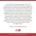 Image for the Tweet beginning: NEW STATEMENT  @APIAHF Statement on President