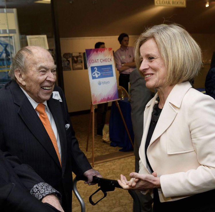 Today I was sad to learn of the passing of Sam Switzer. Sam was a lifelong Calgarian and a self-made man whose philanthropic contributions helped so many. He will be missed. @RotaryYYC @ACHFKids @MealsOnWheelsCA @JFSCalgary @HFHSouthernAB @BnaiBrithCanada #ableg #abpoli #yyc