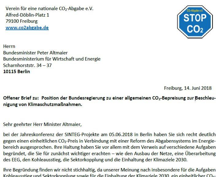 Co2 Abgabe Ev On Twitter Ein Offener Brief Von Uns An Herrn