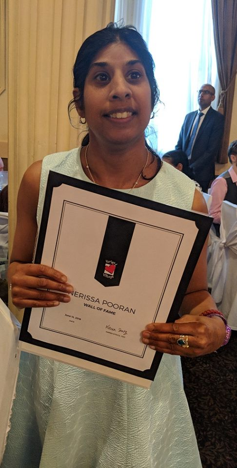 Congratulations to Nerissa Pooran who was inducted to Variety Village's Wall of Fame on June 14th. Nerissa is the first Special Olympics #Toronto and Sunshine swimmer to be on the @VarietyVillage Wall of Fame. Congratulations, Nerissa! @SOOntario<br>http://pic.twitter.com/0NcLPXI02X