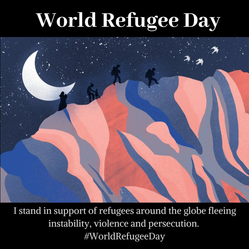We honor #WorldRefugeeDay in the midst of a humanitarian crisis at our own borders.  Today and every day we must stand in solidarity with all refugees, and uphold our nation's promise of freedom for all.