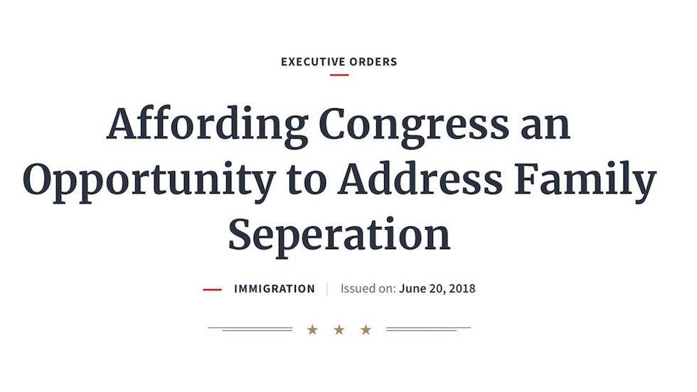 White House misspells 'separation' on executive order ending family separation policy https://t.co/ksKpDLEOQF https://t.co/sr7DDjwysN