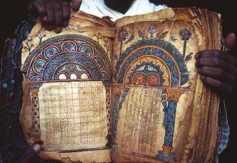 The Garima Gospels are two Ethiopic illuminated manuscript Gospel Books, of which, Garima 2 (the earlier of the two) is believed to be the most ancient Christian manuscript decorated with paintings. Ethiopia Photo