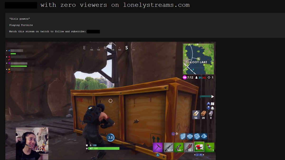 LonelyStreams shows you what happens in Twitch streams with zero viewers: bit.ly/2tc8WrI