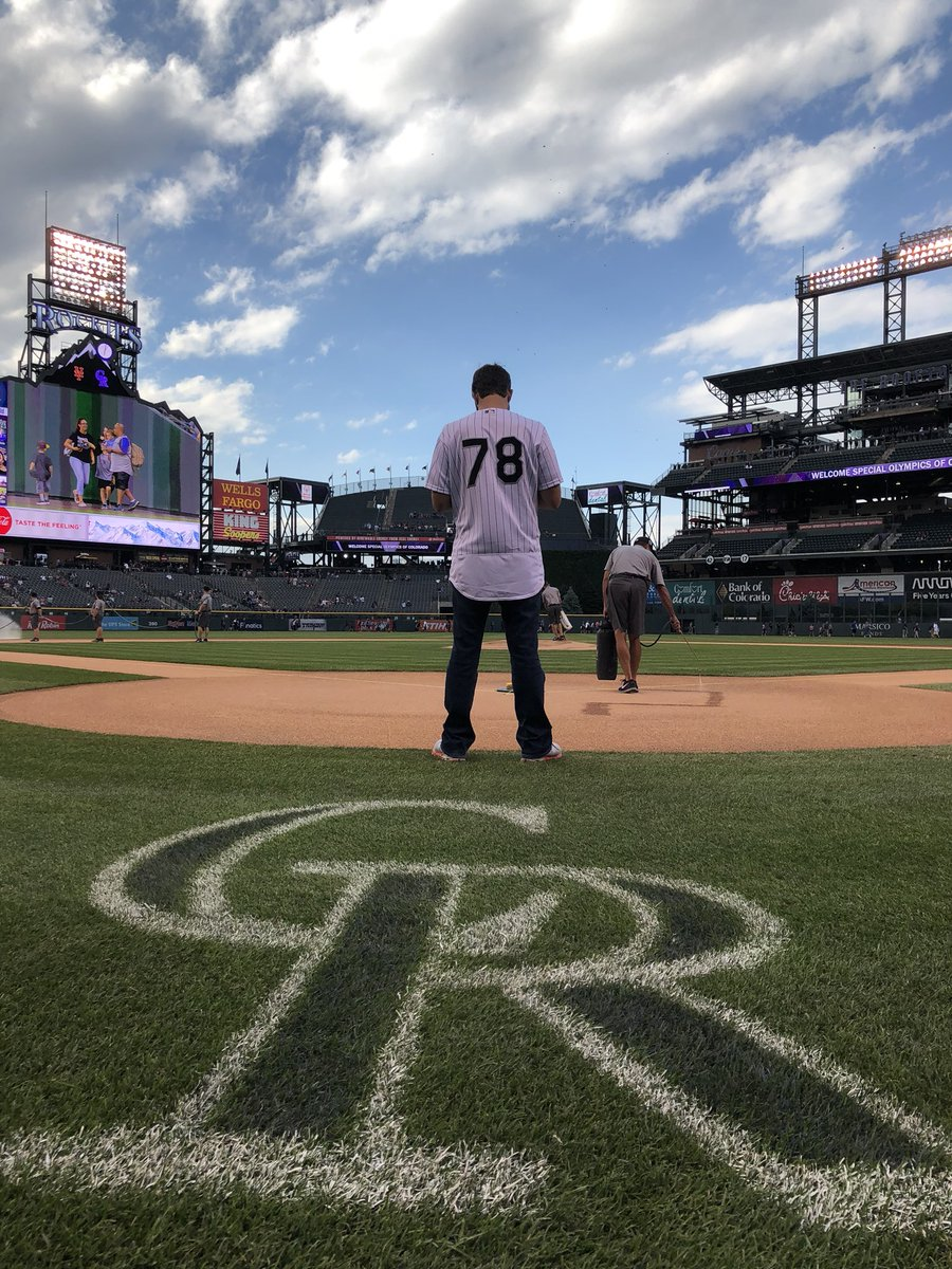 @MartinTruex_Jr scouting out the field before his first pitch! #nascar