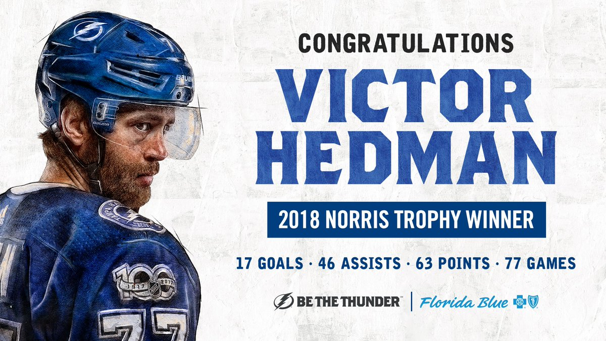 Tampa Bay Lightning's photo on Victor Hedman
