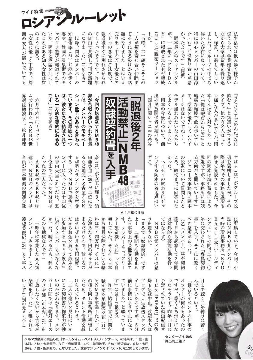 記事 週刊 文春 渡辺