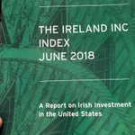 Delighted to host the launch oh The Ireland Inc Index 2018. Top 6 Irish companies in the US by numbers employed - @OldcastleCareer (40,000) @ArdaghGlass (7,000) @GreencoreGroup (6,000) @kerryfoodgroup (5,000) @helloiconworld (4,600) @GlanbiaPlc (3,600)