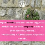 Image for the Tweet beginning: Open hostility towards others suggests