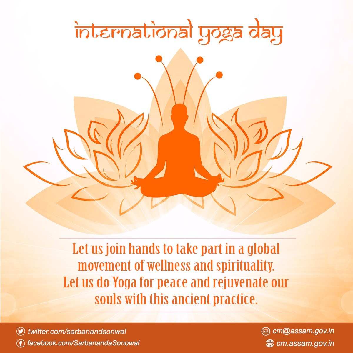 Sarbananda Sonowal On Twitter On Internationalyogaday2018 Let S Celebrate The Spirit Of India S Gift To The World By Making Yoga A Part Of Our Daily Life Yoga For A Healthy Body And A