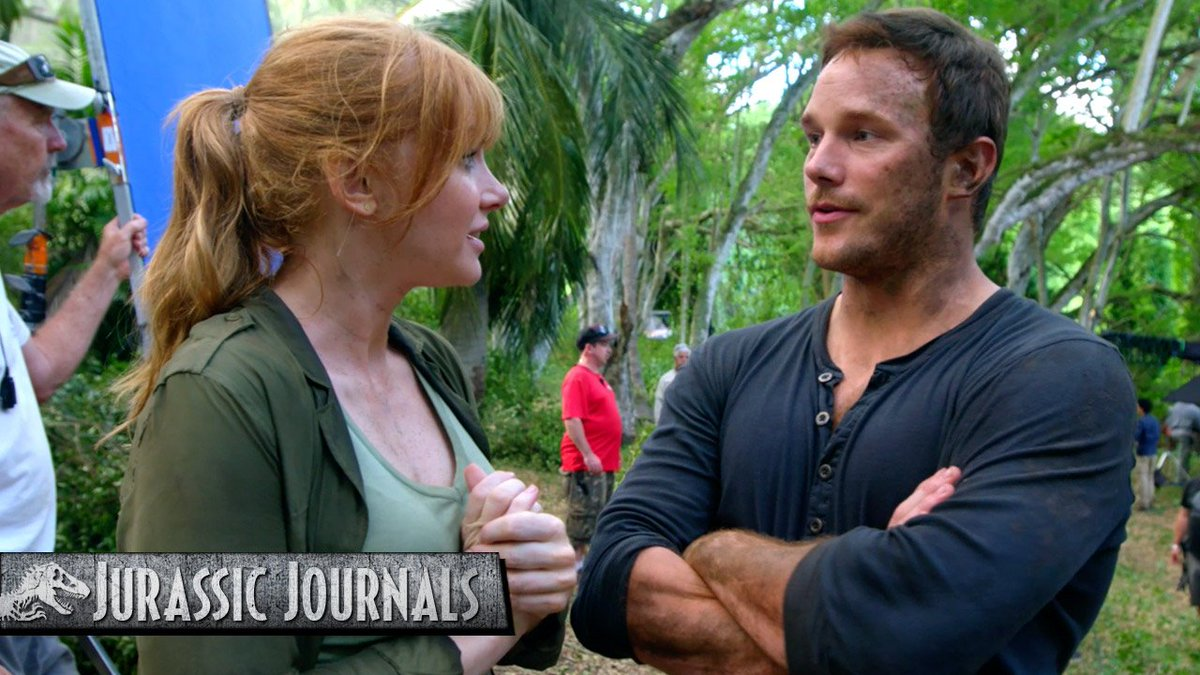 Exactly what is it that you say you do here, @prattprattpratt? @BryceDHoward asks the tough questions in the final #JurassicJournal. #TBT @JurassicWorld #FallenKingdom