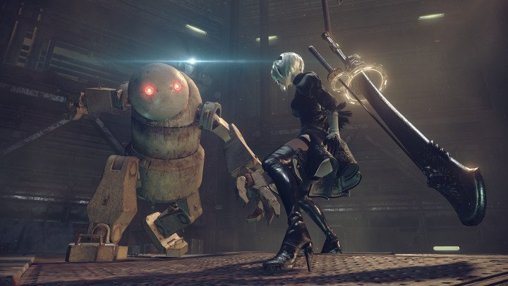 Were returning to our playthrough of Nier: Automata live now on Twitch. Its a feel good tale about androids, where nothing ever goes wrong. bit.ly/2JSAjRG