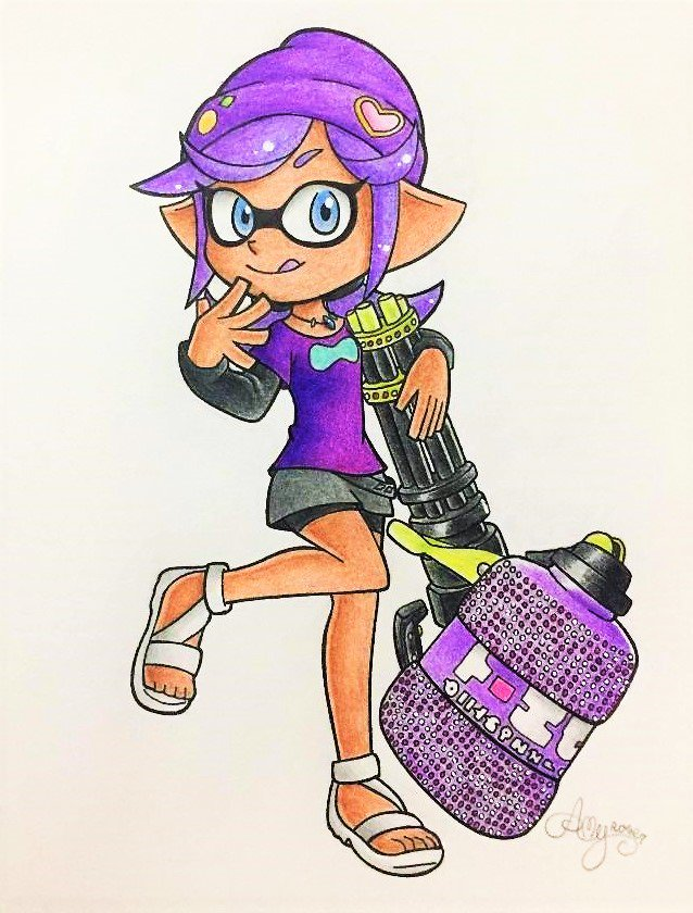 Commissioned by none other than @xxArtistic14xx !!! I had lots of fun drawing Aster for you!!! :&#39;DDDD  #Nintendo #Splatoon #Splatoon2 #fanart #traditionalart #Commission<br>http://pic.twitter.com/BJHGaxc5t0