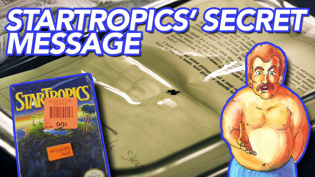 The NES game StarTropics came with a letter that you were supposed to dip into water. So we opened up a brand-new copy and did just that. bit.ly/2yvyntc