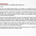 philippine mental health law Twitter Photo
