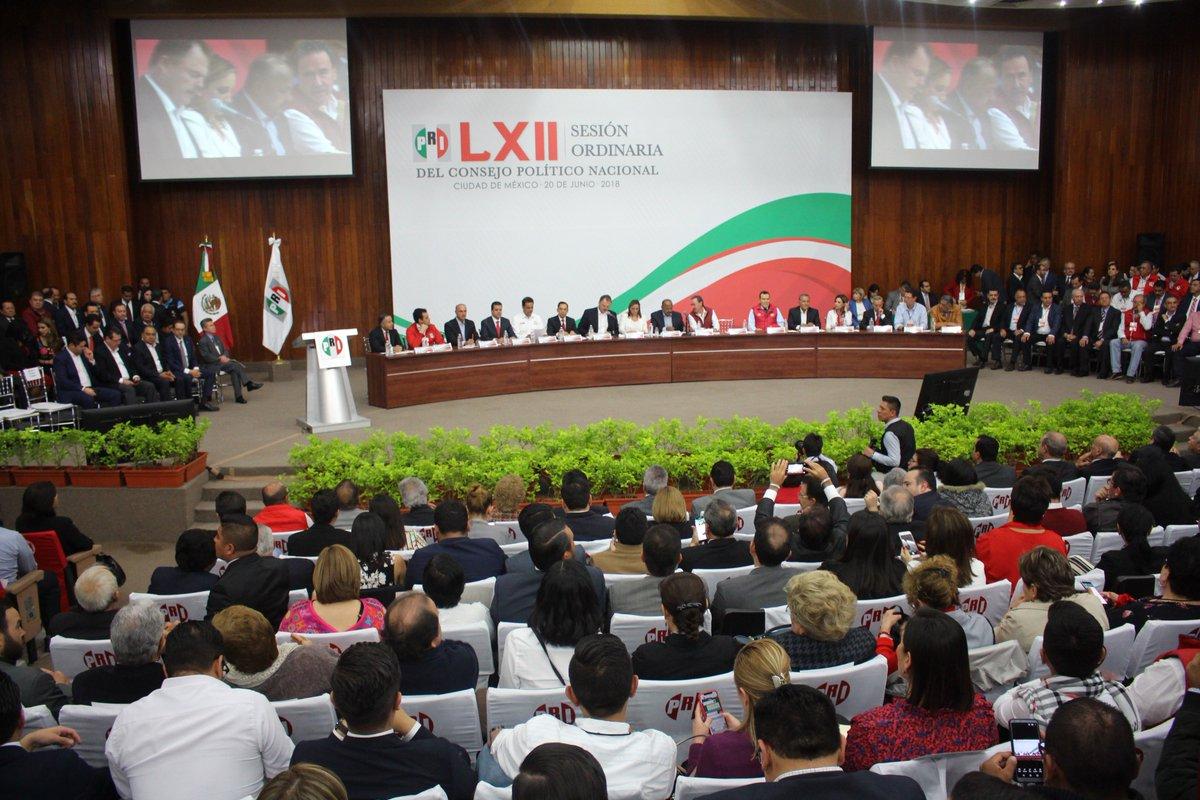 En la LXII Sesión Ordinaria del Consejo Político del PRI, reafirmamos nuestra unidad y convicción para lograr la victoria el próximo 1 de julio, de la mano del mejor candidato, @JoseAMeadeK https://t.co/ma6kjtLAzp