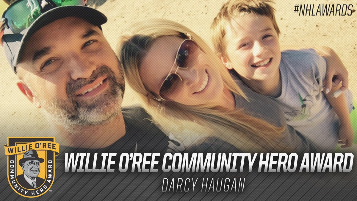 Late @HumboldtBroncos coach Darcy Haugan has been honored with the inaugural Willie O'Ree Community Hero Award, presented to an individual who - through the game of hockey - has positively impacted his or her community, culture or society. #NHLAwards