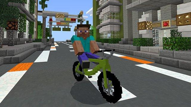 велосипед в майнкрафт #4